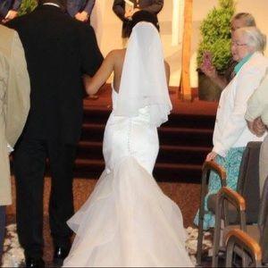 Ivory custom wedding veil